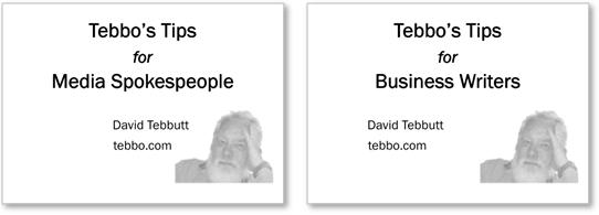 Tebbo's Tips